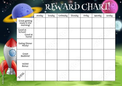 Tela Childs Reward or Chore Chart