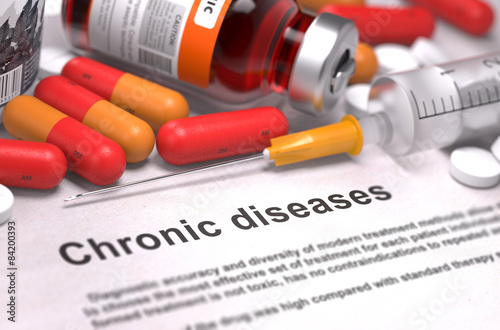 Fotografia  Diagnosis - Chronic Diseases. Medical Concept.