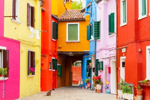 Obraz Wyspa Burano, Włochy - fototapety do salonu