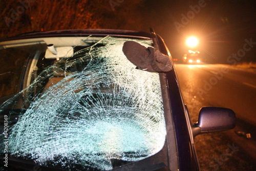 Car traffic accident