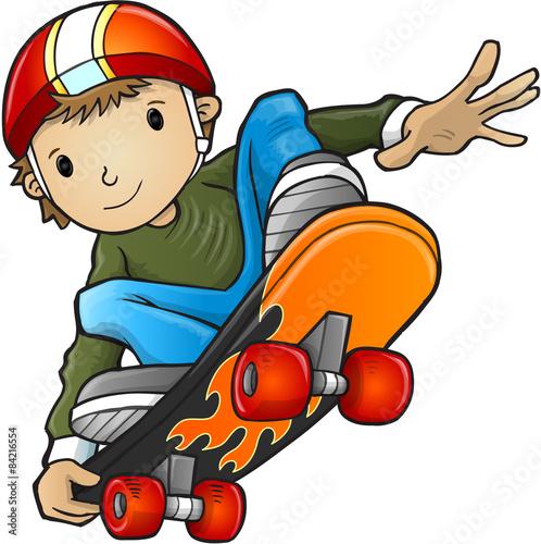 Fotografie, Obraz  Skateboarder Vector Illustration Art