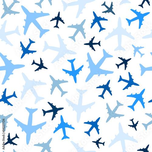 Tapety do pokoju chłopca bezszwowy-wzor-z-samolotami-na-bielu