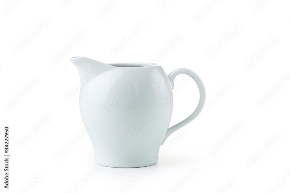 Fototapety, obrazy: White jug isolated on white