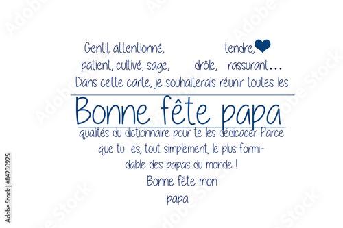 Fête Des Pères Poème Dans Un Coeur Kaufen Sie Diese