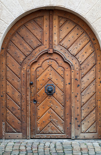 Photo  Wooden door