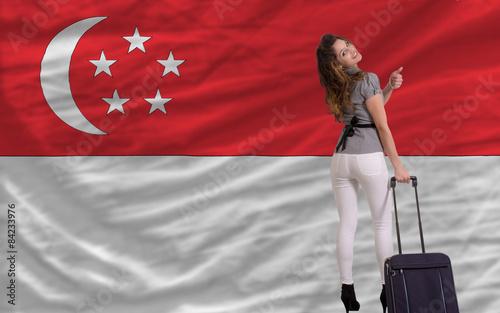 Photo  tourist travel to singapore