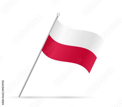 Valokuva Poland Flag Illustration