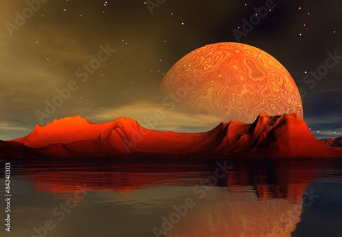 Obrazy Fantasy 3d-rendered-fantasy-alien-planet