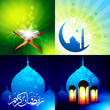 vector attractive set of eid background festival of muslim illu