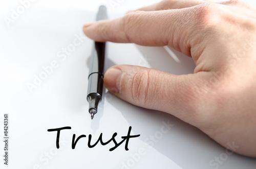 Fototapety, obrazy: Trust concept