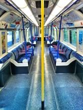 Empty Tube Train Corridor In London
