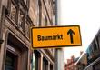 Strassenschild 44 - Baumarkt