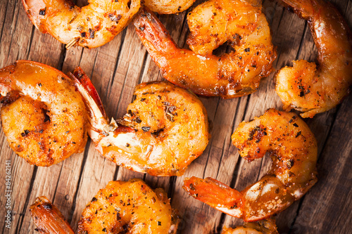 Poster Coquillage Shrimps fried
