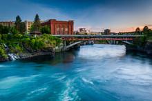 The Spokane River At Sunset, I...