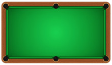 Empty Billiard Table On A Whit...