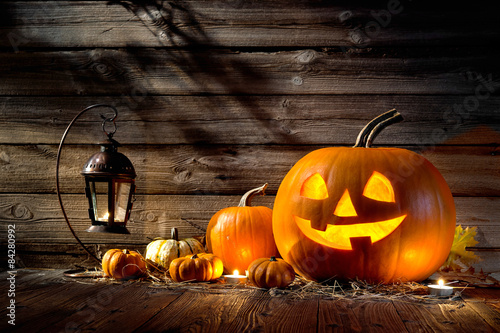 Spoed Fotobehang Halloween Halloween Pumpkins