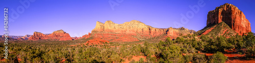 Staande foto Arizona Courthouse Butte panorama