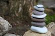 Zen stones balance spa outdoors