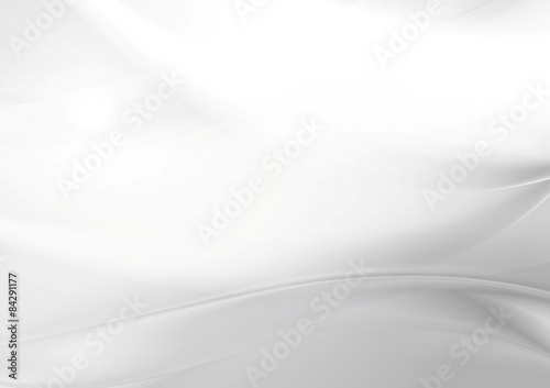 Abstract grey pearl smooth waves Fototapet