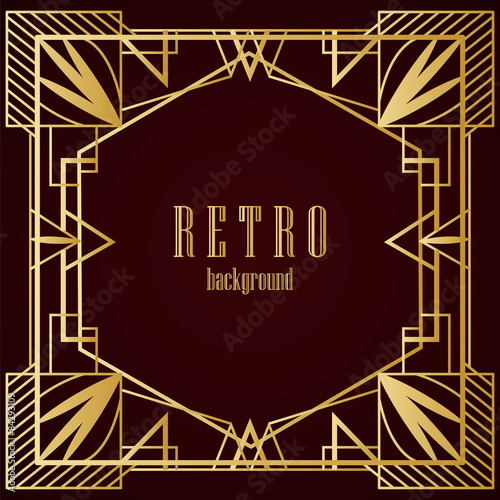 Photo  Art deco geometric frame
