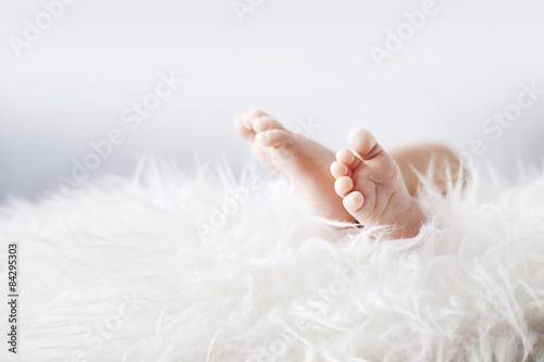 Printed kitchen splashbacks Artist KB Little feet of a newborn child