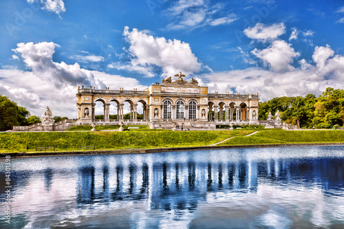 Garden Poster Vienna Gloriette with lake in Schonbrunn Palace, Vienna, Austria