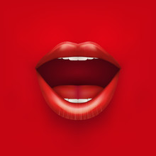 Background Of Womans Mouth Wit...