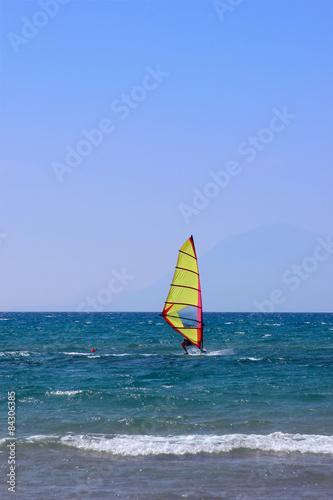 fototapeta na lodówkę Windsurfing