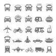 Black Icons - Transportation