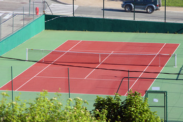 Panel Szklany Tenis Tennis court
