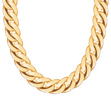 Chunky Chain Golden Metallic N...