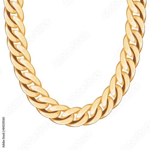 Foto  Chunky Kette goldene metallische Halskette oder Armband.