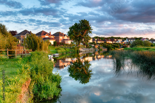Foto auf Gartenposter Fluss Wimborne Minster