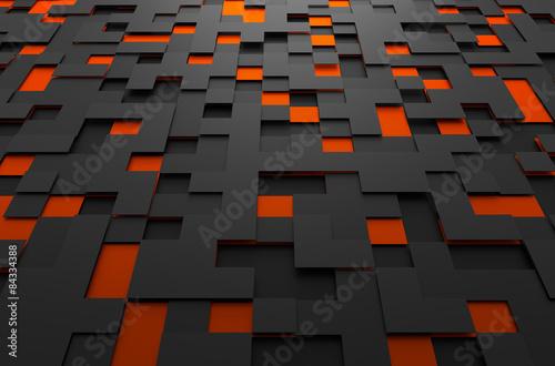 abstrakcyjne-tlo-zlozone-z-czarnych-i-pomaranczowych-kwadratow-roznie-rozmieszczonych