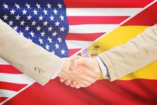Businessmen Handshake - United States And Spain