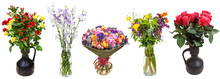 Set Of Bunches Of Flowers In V...