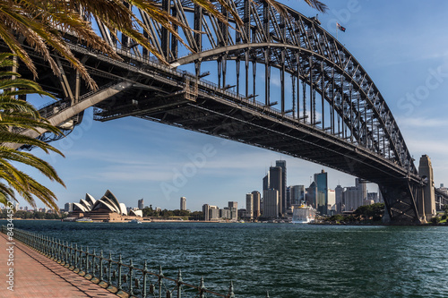 Foto auf Acrylglas Sydney Sydney mit Harbour bridge und Opera