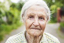 Portrait Of An Aged Woman Outd...