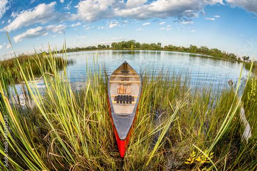 Fotografie, Obraz  canoe in fish eye lens perspectrive
