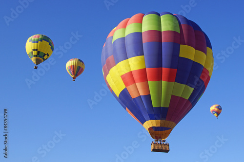Tuinposter Ballon Hot Air Balloons Float over California