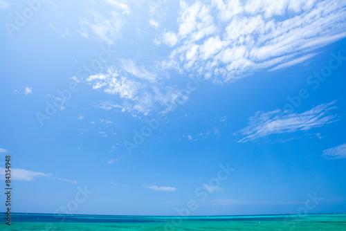 Foto op Aluminium Zee / Oceaan 沖縄の海・青空と水平線