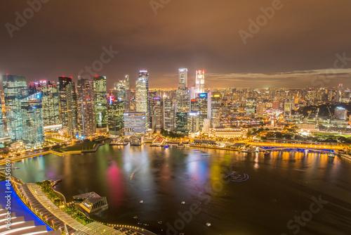 Photo  Panorama of Singapore skyline downtown