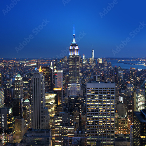 New York City panorama by night - 84359922