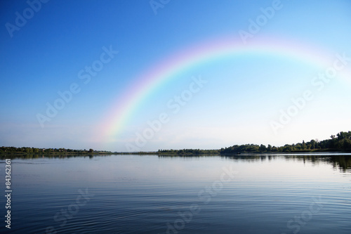 Foto auf Gartenposter Fluss River landscape on a summer day