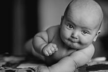Child Baby Black And White Portrait