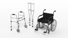 Black Disability Wheelchair Cr...