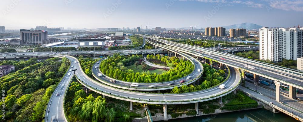 Fototapety, obrazy: traffic on elevated expressway