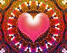 Heart Mandala Background