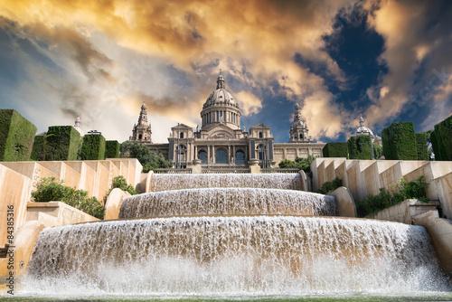 In de dag Barcelona The Palau Nacional