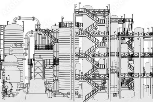 Recess Fitting Art Studio cartoon image of oil refinery